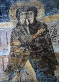 Ancient frescoe in Saint Sophia Cathedral, Kiev, Ukraine. KIEV, UKRAINE, JANUARY 02 2015 : Russian ancient frescoe in Saint Sophia Cathedral, by anymous artist Stock Photos