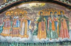 Ancient frescoes Troyan Monastery in Bulgaria Stock Image