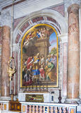 Ancient frescos on the walls in Vatican Royalty Free Stock Photos
