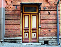 Ancient front door of an old building Royalty Free Stock Images