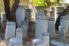 Ancient funerary pillars Royalty Free Stock Photography
