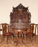 Ancient furniture. 1600-1700 years. A museum piece castle Lvov, Ukraine Royalty Free Stock Images