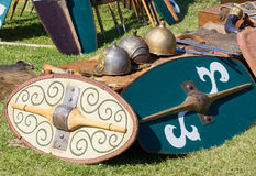 Ancient Gallic Battle Equipment Stock Photos