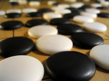 Ancient Game of Go stock photo