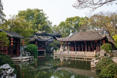 Ancient garden in Tongli of Suzhou Royalty Free Stock Photo