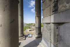 Ancient Garni pagan Temple, the hellenistic temple in Armenia.  Royalty Free Stock Image