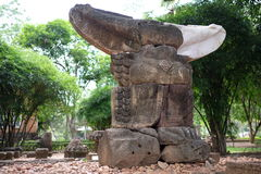 Ancient Garuda statue in Mueang Sing Historical Park Stock Photography