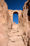 Ancient gate. Ancient, stone gate to the top of Sinai Royalty Free Stock Image