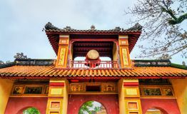 Ancient gate at the Forbidden City in Hue, Vietnam. Ancient gate at the Forbidden City in Hue. UNESCO world heritage in Vietnam stock images