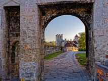Ancient gate Georgstor in Castle Burghausen Royalty Free Stock Photos