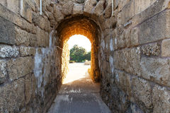 Ancient gate, in the historic city of Caesarea, Israel Stock Images
