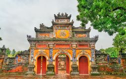 Ancient gate at the Imperial City in Hue, Vietnam. Ancient gate at the Imperial City in Hue. UNESCO world heritage in Vietnam royalty free stock photo
