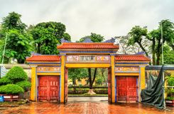 Ancient gate at the Imperial City in Hue, Vietnam. Ancient gate at the Imperial City in Hue. UNESCO world heritage in Vietnam royalty free stock images