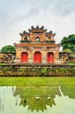 Ancient gate at the Imperial City in Hue, Vietnam. Ancient gate at the Imperial City in Hue. UNESCO world heritage in Vietnam stock photos