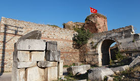 The Ancient Gate in Iznik, Bursa. Stock Image