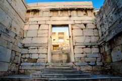 Ancient gate. An ancient gate leads to the Parthenon temple,Athens,Greece Royalty Free Stock Image