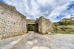 Ancient gate on Old fortress ruins of tzar Samuel in Ohrid Macedonia. Ancient gate on Old fortress ruins of tzar Samuel in Ohrid, Macedonia Stock Photography