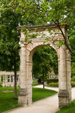 Ancient gate in Park Monceau Stock Image