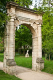 Ancient gate in Park Monceau Royalty Free Stock Photos