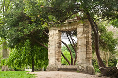 Ancient gate in Park Monceau Stock Photo