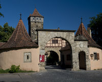 Ancient Gate in Rothenburg ob der Tauber Stock Image