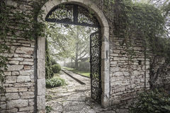 Ancient Gate Ruins. Ancient Gate Ruins on the Park. Bulgaria Royalty Free Stock Images