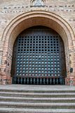 The ancient gate in the stone building of the fortress in Kiev royalty free stock images