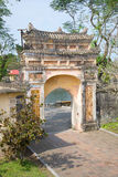 Ancient gate on the territory of the Forbidden Purple city. Vietnam Royalty Free Stock Photos