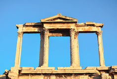 Columns classic. Ancient gate to the city of Athens, near the Acropolis Royalty Free Stock Image