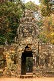 Ancient gates of Angkor Thom in Angkor Wat Stock Images