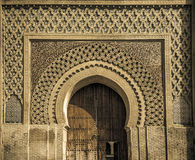 Ancient gates in Meknes, Morocco royalty free illustration