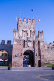 Ancient gateway to Soave, fortified city in the province of Vero Royalty Free Stock Image