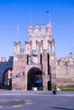 Ancient gateway to Soave, fortified city in the province of Vero Stock Image