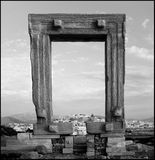 Ancient gateway to vanished Naxos temple Royalty Free Stock Photos
