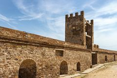 Ancient Genoese fortress in the city royalty free stock photo