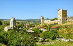 Ancient Genoese fortress in the city of Feodosia, Crimea Stock Photo
