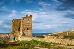 Ancient Genoese fortress in the city of Feodosia, Crimea Royalty Free Stock Photos