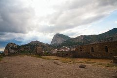 Ancient Genoese fortress Royalty Free Stock Photography