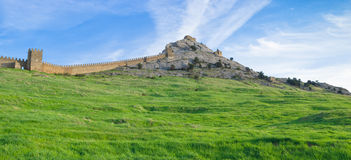 Within an ancient Genoese fortress in Sudak Royalty Free Stock Photography