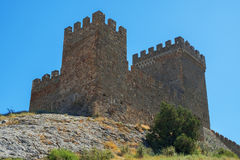 The ancient Genoese fortress Royalty Free Stock Image