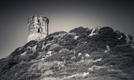 Ancient Genoese Parata tower. Ajaccio, Corsica Stock Photography