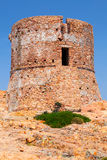 Ancient Genoese tower on Capo Rosso, Corsica Stock Photo
