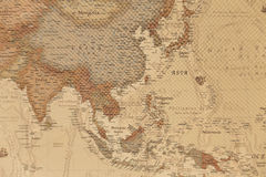 Ancient geographic map of Asia. With names of the countries royalty free stock photography