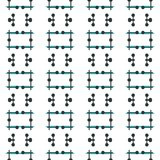Ancient Geometric pattern in repeat. Fabric print. Seamless background, mosaic ornament, ethnic style. Design for prints on fabrics, textile, covers, paper Royalty Free Stock Photo