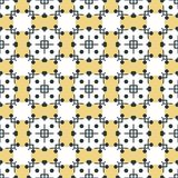Ancient Geometric pattern in repeat. Fabric print. Seamless background, mosaic ornament, ethnic style. Design for prints on fabrics, textile, covers, paper Royalty Free Stock Images