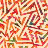 Ancient geometric seamless pattern. Eps 10 vector file Stock Photo