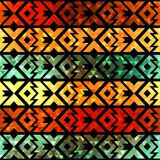 Ancient geometric seamless pattern with grunge effect Stock Photos