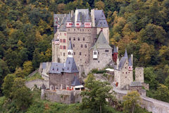 Ancient German Castle in the Autumn. Ancient Burg Eltz Castle in the Autumn in Germany Stock Photography