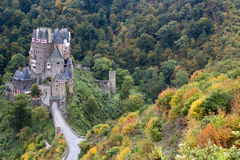 Ancient German Castle in the Autumn. Ancient Burg Eltz Castle in the Autumn in Germany Royalty Free Stock Photography
