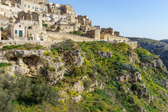 The ancient ghost town of Matera Sassi di Matera in beautiful Stock Photo